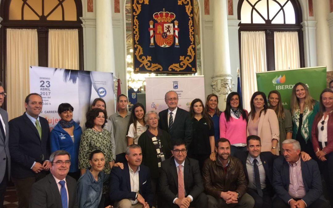 """CD Waterpolo Málaga en la presentación del tour """"Mujer, salud y deporte"""""""
