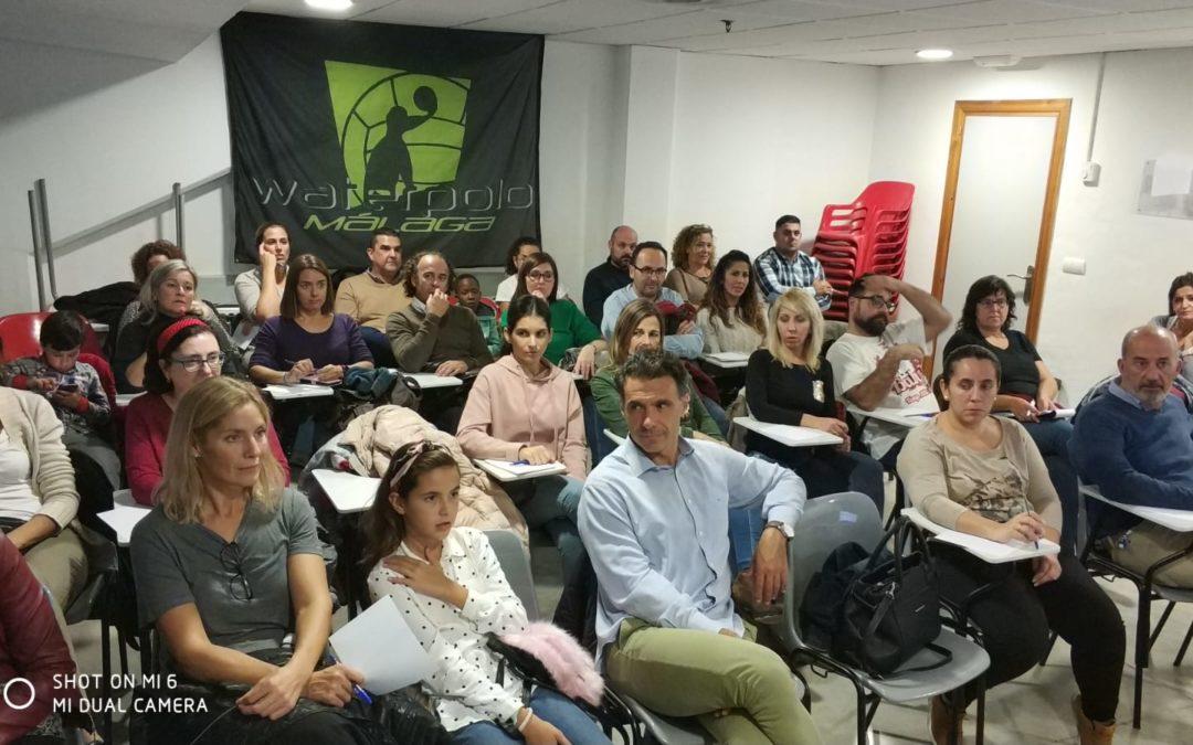 El Waterpolo Málaga sale del agua para ganar en formación y actitudes para el Deporte