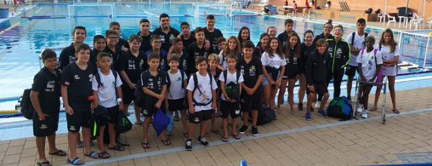 Los alevines del Waterpolo Málaga arman el brazo para ser los más goleadores del Andaluz