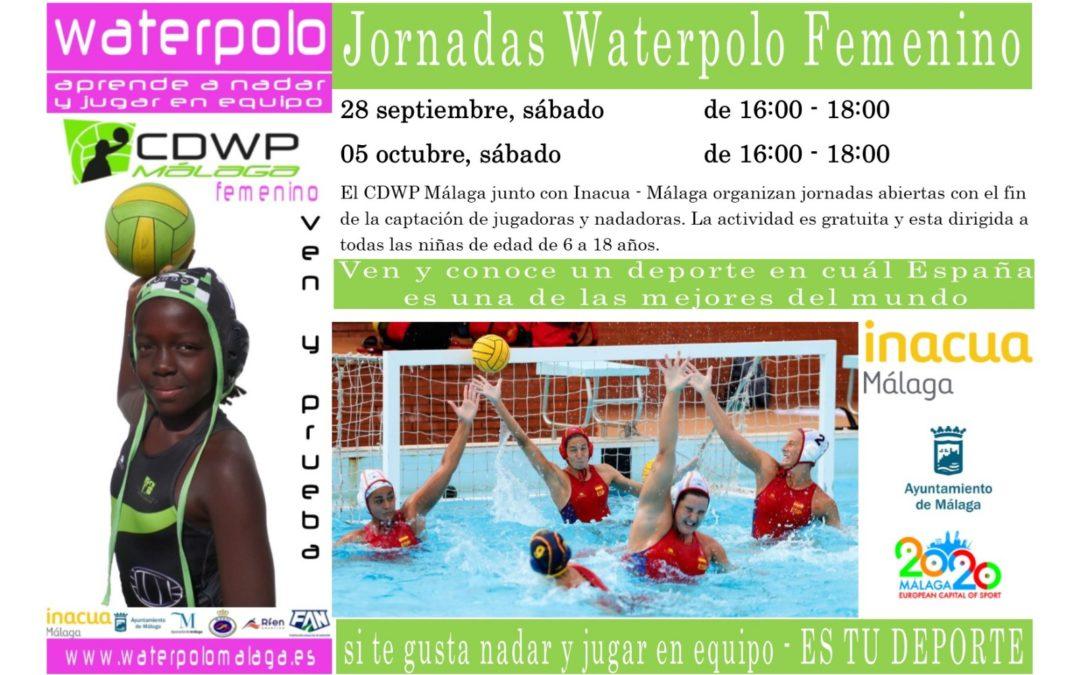 Jornadas de puertas abiertas para el waterpolo femenino