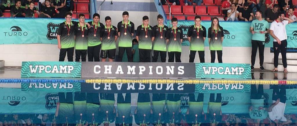 El Waterpolo Málaga confirma su ascensión en el panorama nacional con un tercer puesto en el WP CAMP infantil de Madrid
