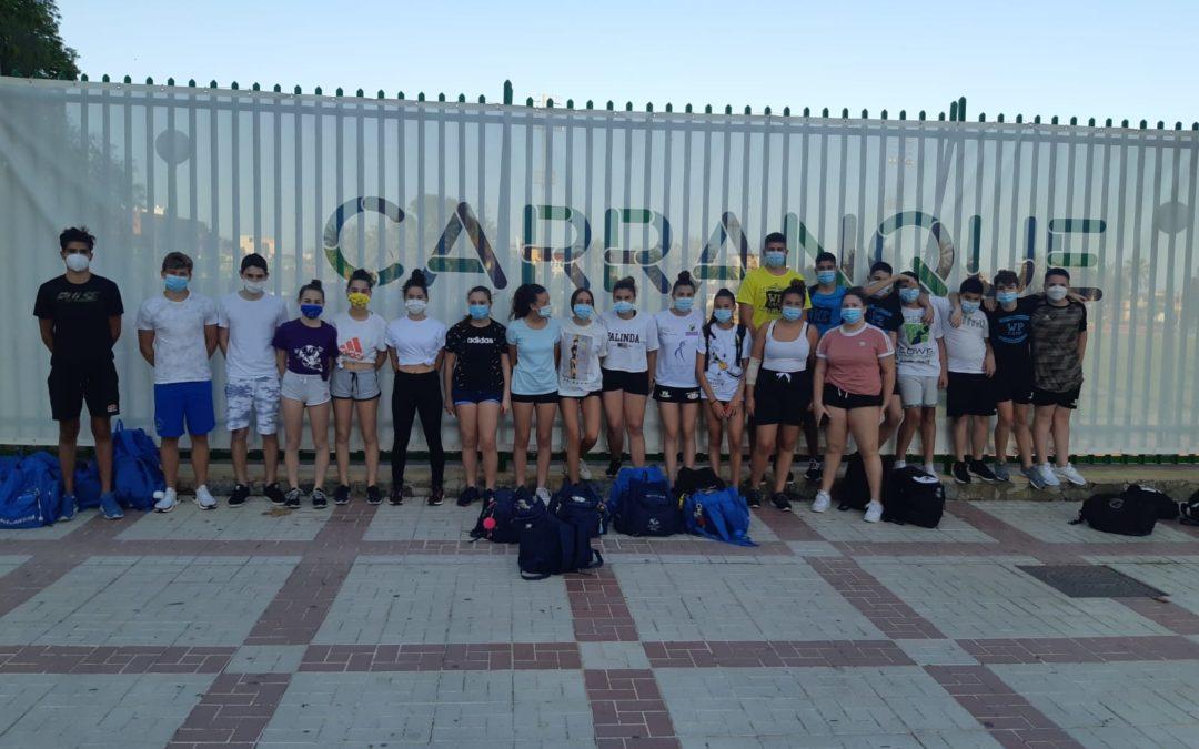 El Waterpolo Málaga retoma los entrenamientos colectivos en seco
