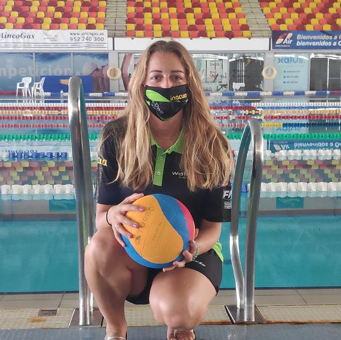 Sara Fernández, la ilusión personificada para alentar el proyecto del Waterpolo Málaga Inacua